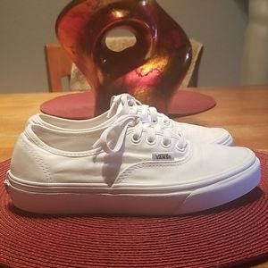 Vans. White canvas. Size 6.5